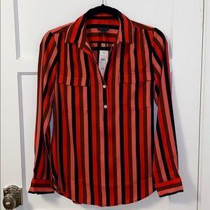 Ann Taylor Stripes Blouse. Size XS